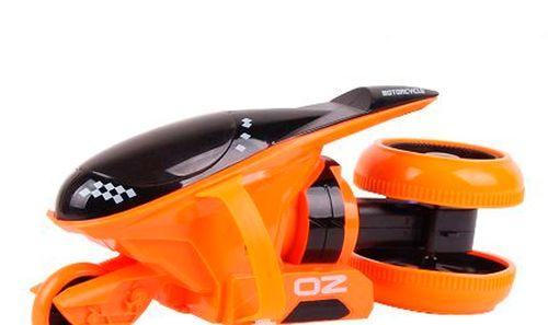 Motocicleta spinning, gira, con control remoto