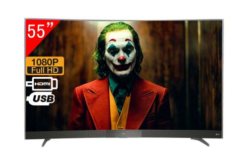 "TCL TV Led 55"" Curve L55P3CUS TV 4K Smart 7T1090K UHD conHDR"