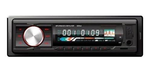 RADIO DE AUTO 1 DIN USB MP3 MICROSD AUX