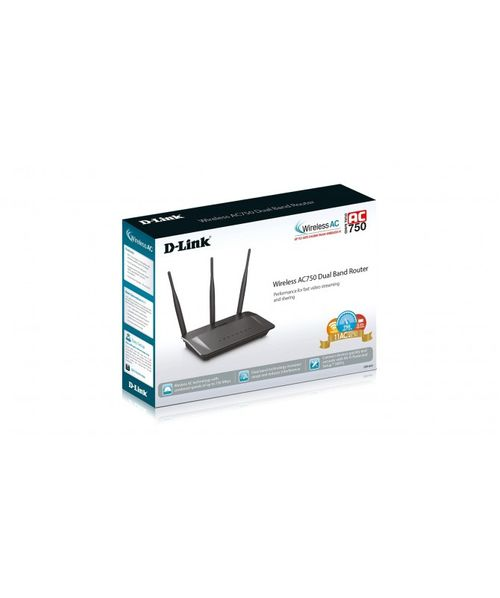 Router Wireless D-link Dir809 Ac750 Dual Band Wifi 3 Antenas