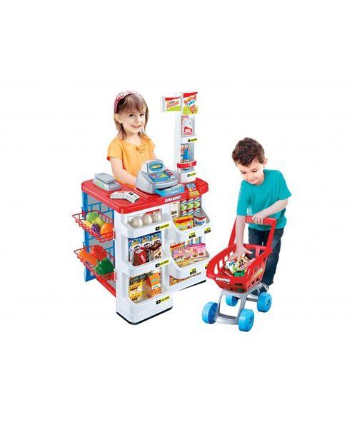 Supermercado de juguete con carrito importado