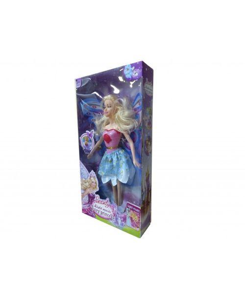 Muñeca princesa, con alas y accesorios