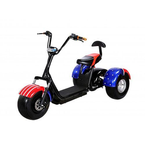 Moto eléctrica 1000w deportiva 3 ruedas