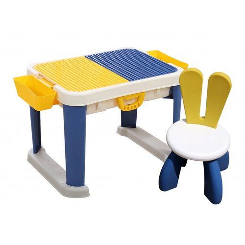 Set de escritorio con silla para niños con lego