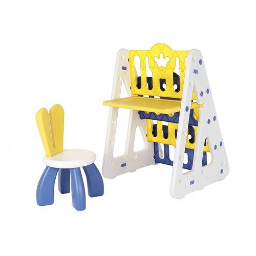 Set de escritorio con repisas y silla para niños