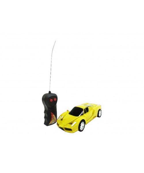 Carro a control remoto, juguete de carrera amarillo