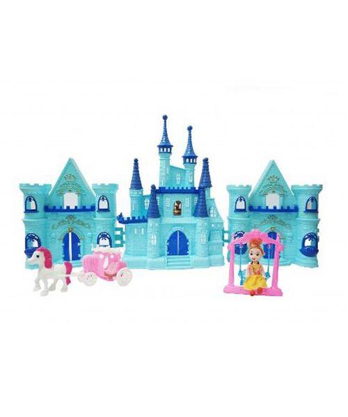 Castillo de mu¤eca tipo frozen con todos sus accesorios