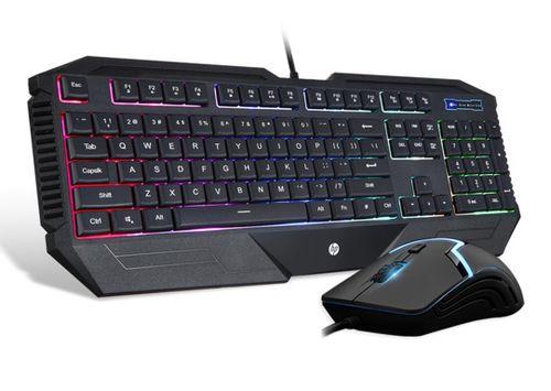 Teclado más mouse HP Gamer iluminado